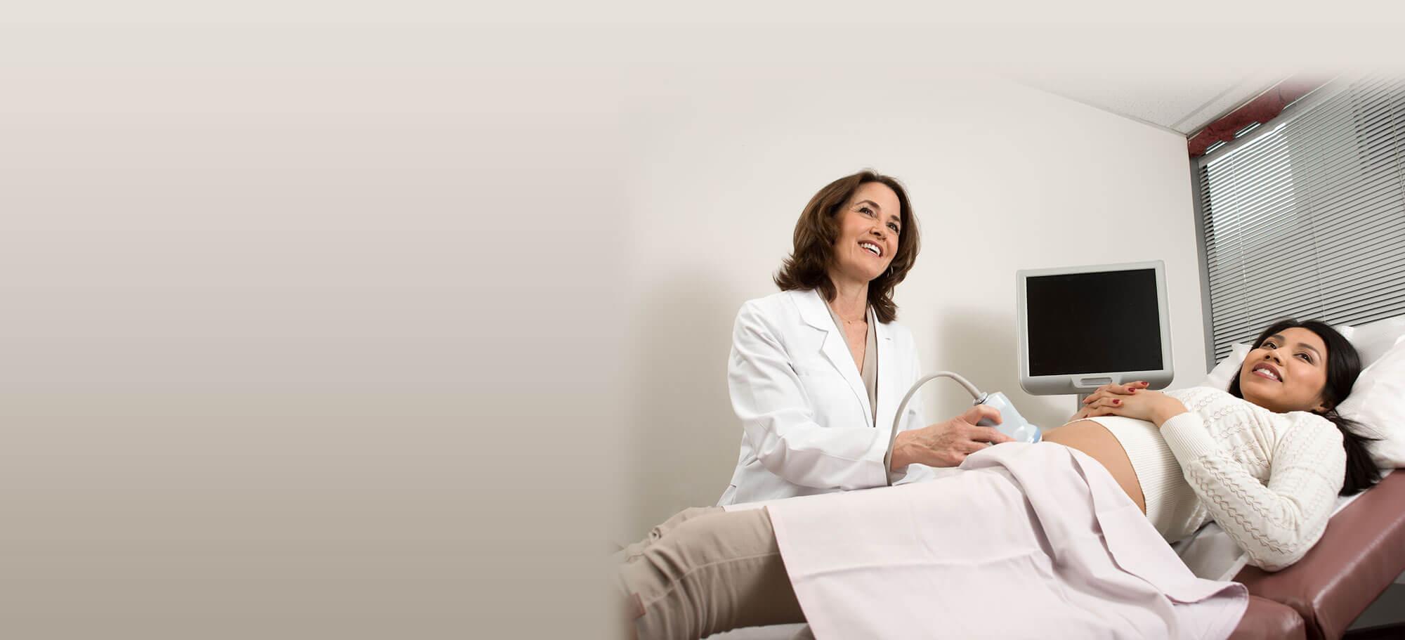 Doctor Karla Iacampo Capturing a Sonogram with Patient