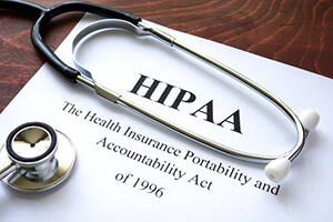 HIPAA document and stethoscope