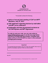 CAP 2017 Ballot