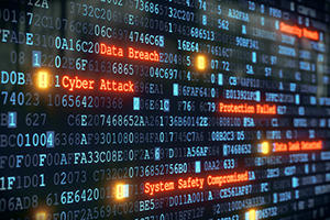 cyber attack and data breach warning
