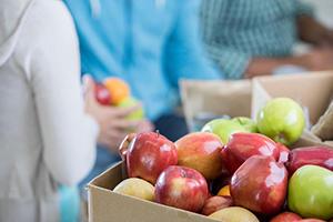 fresh fruit at food bank