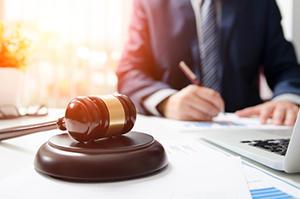 attorney preparing for litigation