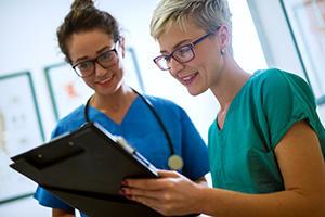 medical staff working together