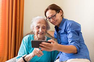 patient using tablet