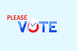 Graphic that says Please Vote