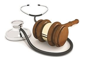 stethoscope with gavel